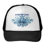 HOP ON THIS ... VINTAGE BEER KEG PRINT IN BLUE HATS