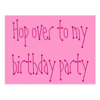 Hop over to my birthday party postcard