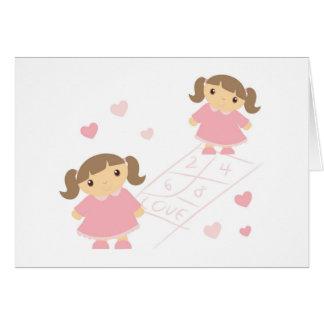 Hop Scotch Girls Card