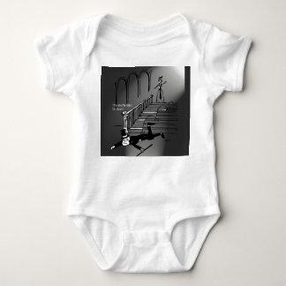 Hop-shuffle-step, fall down! baby bodysuit