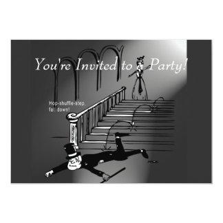 Hop-shuffle-step, fall down! card