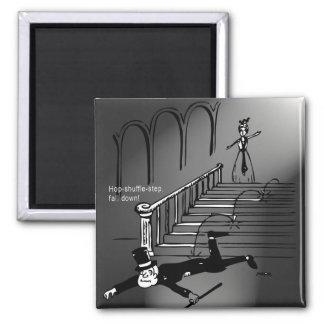 Hop-shuffle-step, fall down! fridge magnets