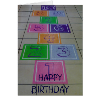 *HOP TO IT* AND HAVE A *FUN* BIRTHDAY CARD