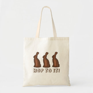 Hop To It Chocolate Easter Candy Bunny Rabbit Tote