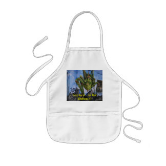 hop to it ...in the kitchen !!! kids' apron