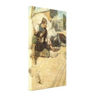 Hopalong by NC Wyeth Vintage Western Cowboys Gallery Wrap Canvas