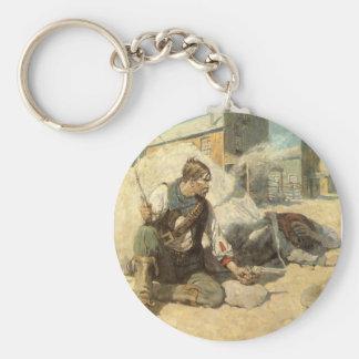 Hopalong by NC Wyeth, Vintage Western Cowboys Keychain