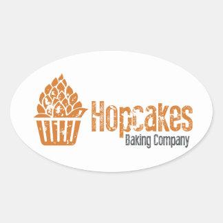 Hopcakes Flagship Logo Oval Sticker