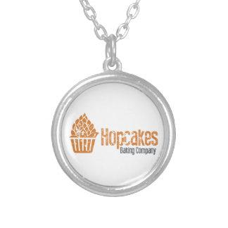 Hopcakes Flagship Logo Round Pendant Necklace