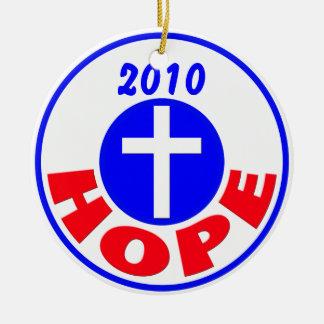 Hope 2010 ceramic ornament