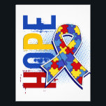 """Hope 2 Autism Flyer<br><div class=""""desc"""">To see this design for additional causes as well as the complete Awareness Gift Boutique Collection of exclusive Autism Awareness and Support designs, please visit our Autism Section at Make a statement for Autism awareness with our grunge-style Autism &quot;HOPE&quot; t-shirts, apparel, and gifts featuring distressed text in contrasting colors and...</div>"""