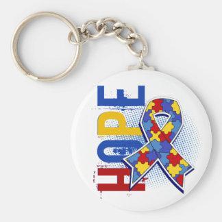 Hope 2 Autism Basic Round Button Keychain