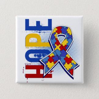 Hope 2 Autism Pinback Button