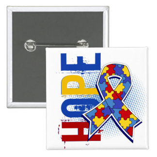 Hope 2 Autism Pinback Button