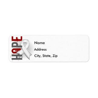 Hope 2 Bone Cancer Label
