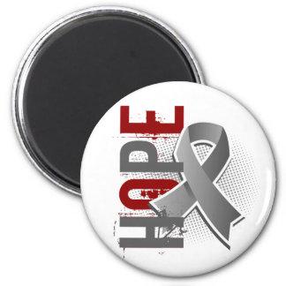 Hope 2 Brain Tumor 2 Inch Round Magnet