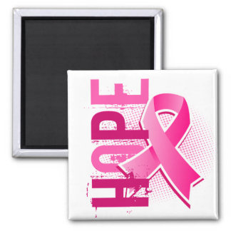 Hope 2 Breast Cancer 2 Inch Square Magnet