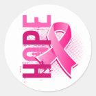 Hope 2 Breast Cancer Classic Round Sticker
