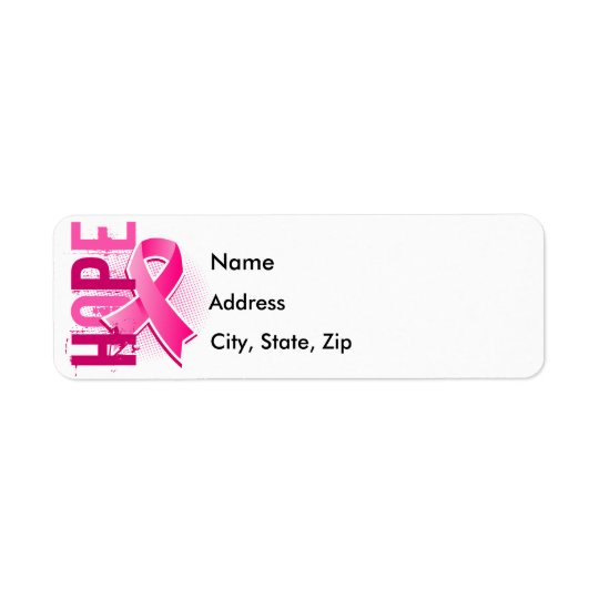 Hope 2 Breast Cancer Label