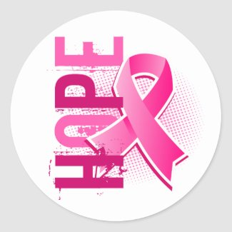 Hope w/pink ribbon Sticker