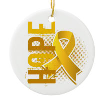 Hope 2 Childhood Cancer Ceramic Ornament