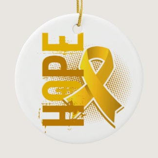 Hope 2 Childhood Cancer Ceramic Ornament