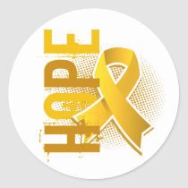 Hope 2 Childhood Cancer Classic Round Sticker