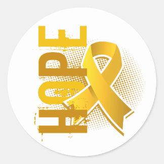 Hope 2 Childhood Cancer Classic Round Sticker