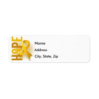 Hope 2 Childhood Cancer Label