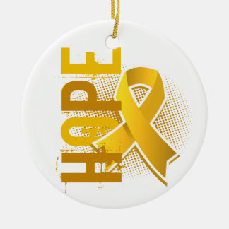 Hope 2 Childhood Cancer Christmas Ornaments