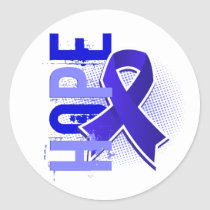 Hope 2 Colon Cancer Classic Round Sticker
