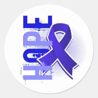 Hope 2 Colon Cancer Classic Round Sticker