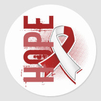 Hope 2 Head And Neck Cancer Classic Round Sticker