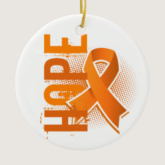 Hope 2 Leukemia Ceramic Ornament