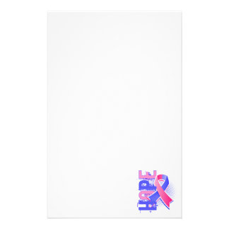Hope 2 Male Breast Cancer Customized Stationery