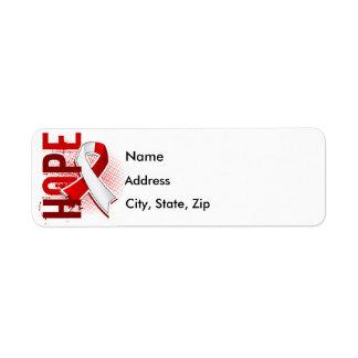 Hope 2 Oral Cancer Return Address Label