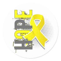 Hope 2 Sarcoma Classic Round Sticker