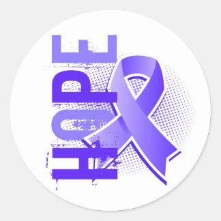 Hope 2 Stomach Cancer Round Sticker