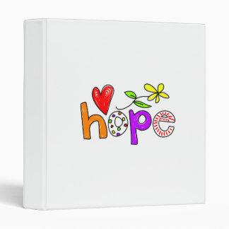 Hope 3 Ring Binder