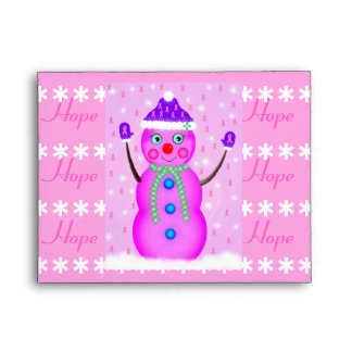 Hope 4 a Cure Snow Girl Envelope