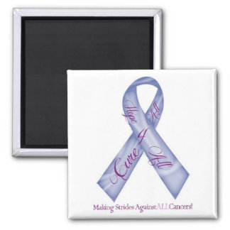 Hope 4 All, Cure 4 All Cancer Fundraising Products 2 Inch Square Magnet