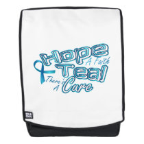 Hope A Faith Teal Ovarian Cancer Awareness Backpack