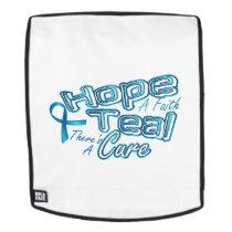 Hope A Faith Teal Ovarian Cancer Awareness Backpack