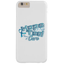 Hope A Faith Teal Ovarian Cancer Awareness Barely There iPhone 6 Plus Case