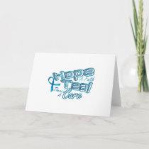 Hope A Faith Teal Ovarian Cancer Awareness Card