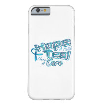 Hope A Faith Teal Ovarian Cancer Awareness Barely There iPhone 6 Case