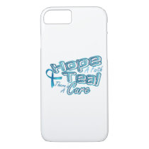 Hope A Faith Teal Ovarian Cancer Awareness iPhone 8/7 Case