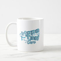 Hope A Faith Teal Ovarian Cancer Awareness Coffee Mug