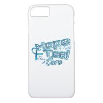 Hope A Faith Teal Ovarian Cancer Awareness iPhone 8/7 Case