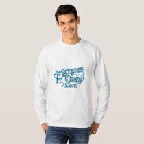 Hope A Faith Teal Ovarian Cancer Awareness T-Shirt